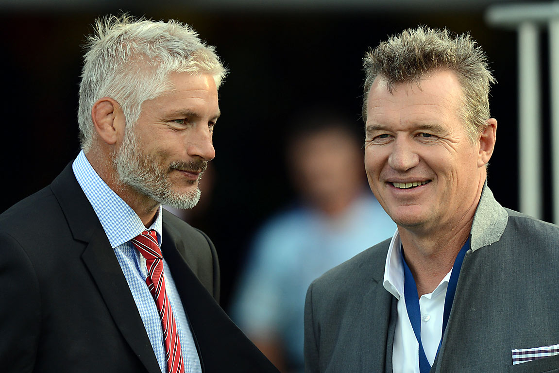 Todd Blackadder and Sir John Kirwan