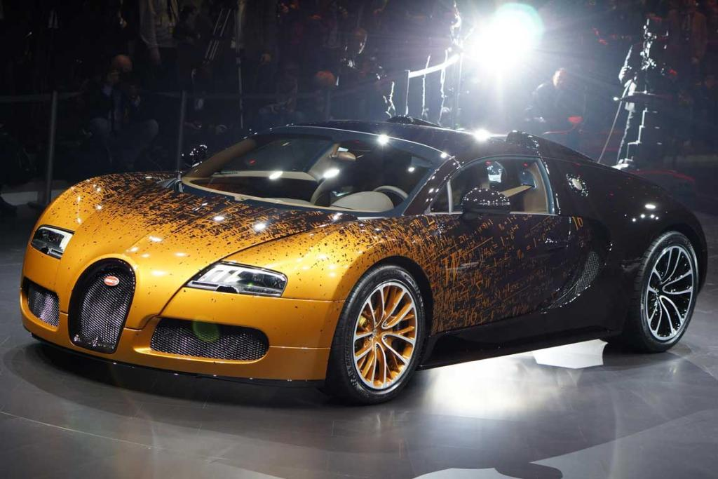 The Bugatti Grand Sport Venet at the Geneva Motor Show.