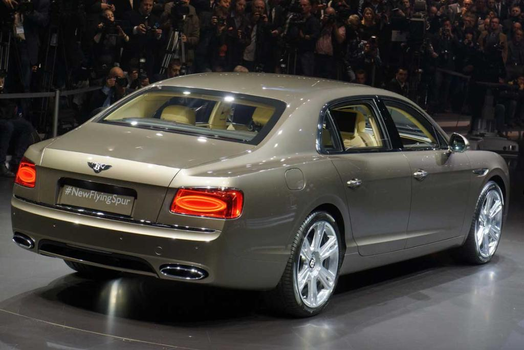 Bentley's New Flying Spur at the Geneva Motor Show.
