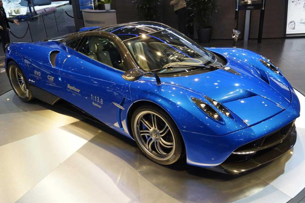 The Pagani Huayra at the Geneva Motor Show.