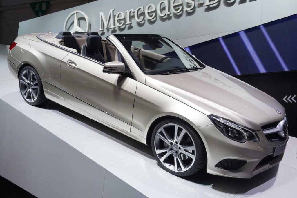 Mercedes-Benz E-Class Cabriolet at the Geneva Motor Show.