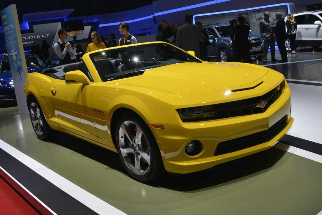 Chevrolet Camaro convertible at the Geneva Motor Show.