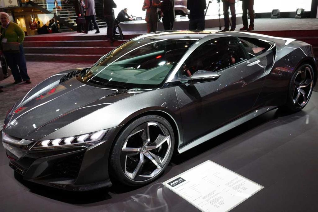 Honda NSX concept at the Geneva Motor Show.