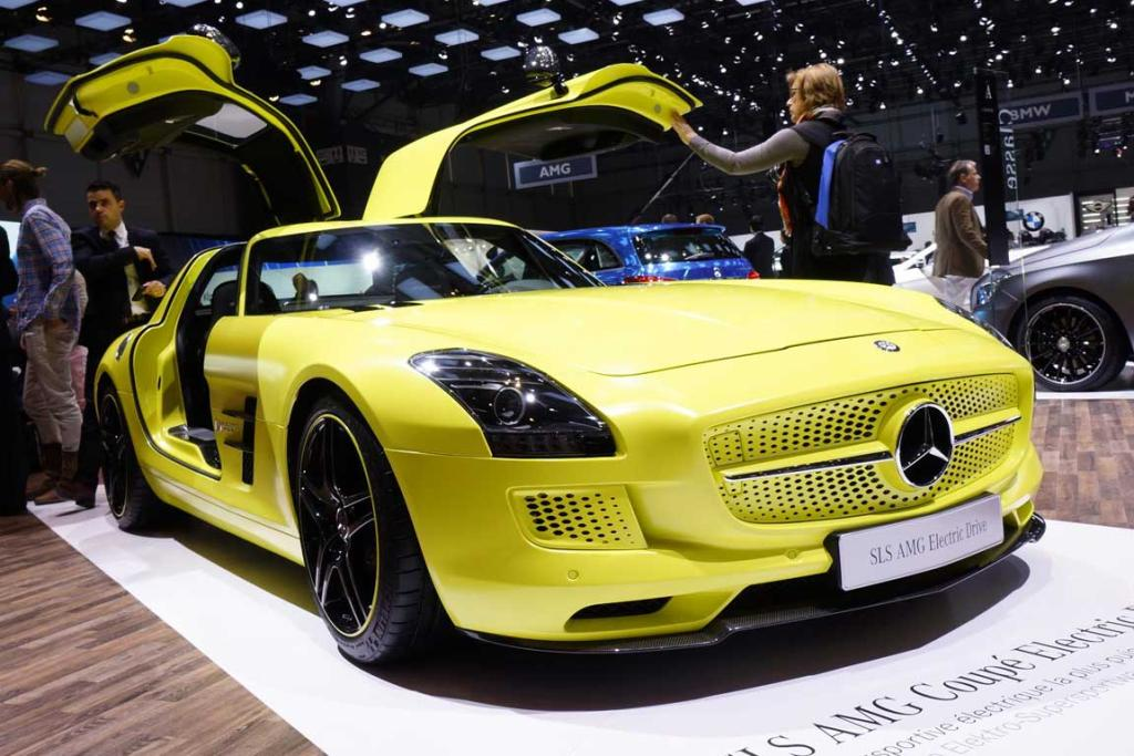 Mercedes-Benz SLS AMG Coupé Electric Drive at the Geneva Motor Show.