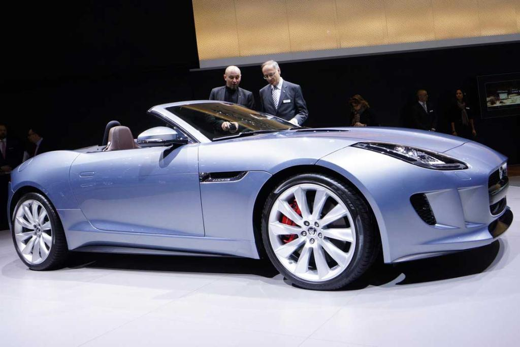 Jaguar F-Type at the Geneva Motor Show.