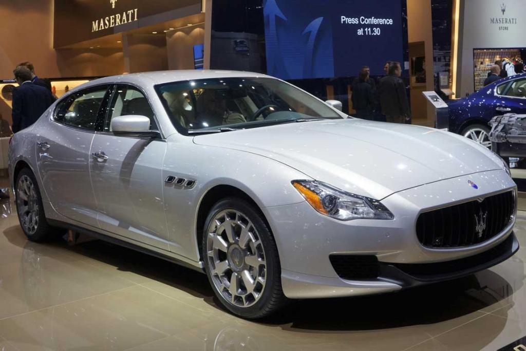 Maserati Quattroporte at the Geneva Motor Show.