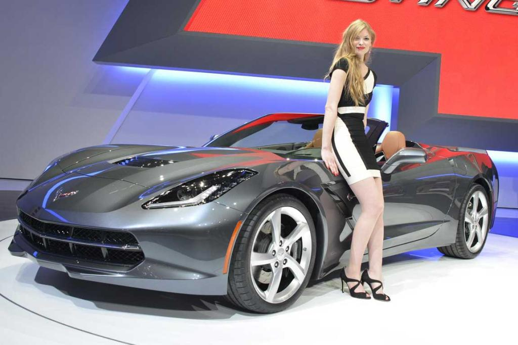 Corvette Stingray convertible at the Geneva Motor Show.