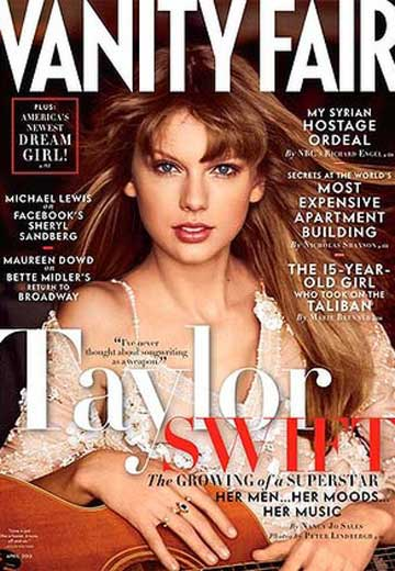 COVER-GIRL: Taylor Swift on the cover of Vanity Fair