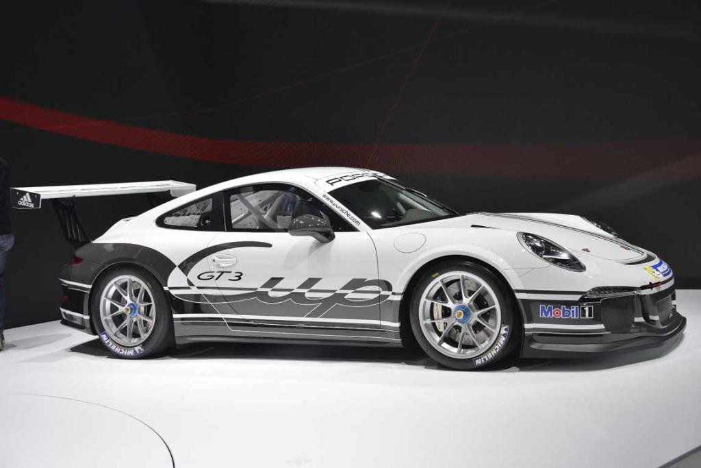 Porsche 911 GT3 Cup version at the Geneva Motor Show.