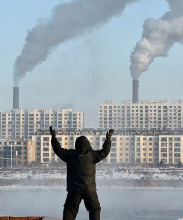 BURNING: Chinese factories are a contributor to the increase in carbon emissions observed in 2012.