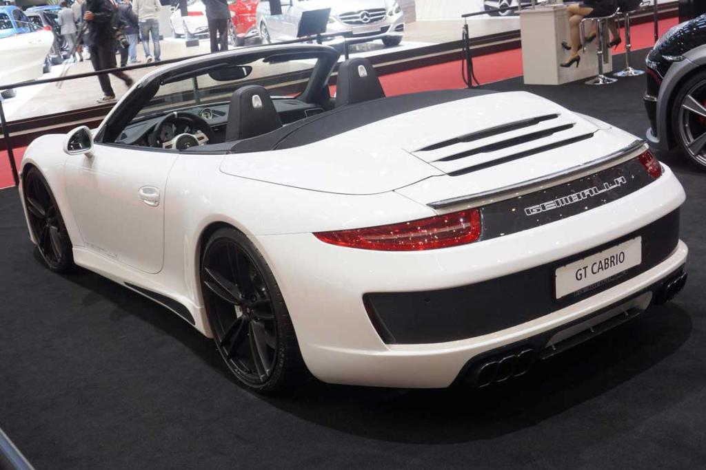 Gemballa GT Cabrio at the Geneva motor show.