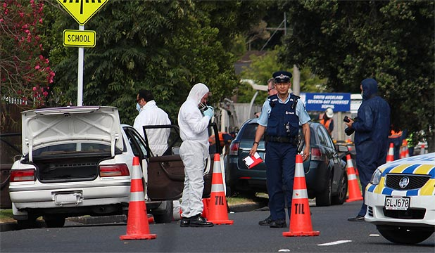 BODY IN CAR: A neighbour called the police after the car remained on the busy Puhinui Rd in Papatoetoe for five days.