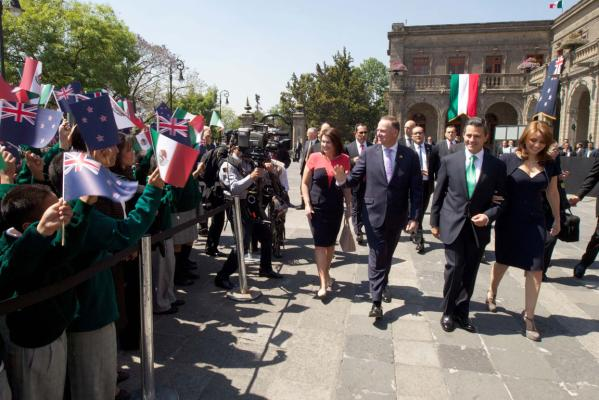 Key meets Mexican President