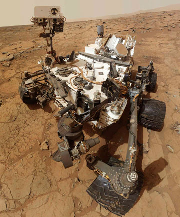 WAITING: Nasa Mars rover Curiosity has powered down to weather a solar flare.