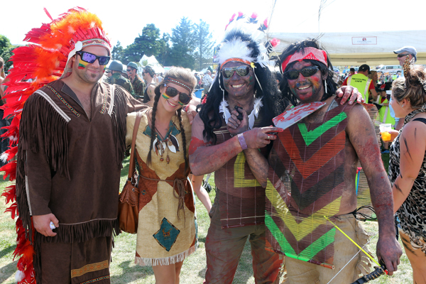 These American Indians visited from the Wild Foods Festival but really are from Ashburton and Christchurch.