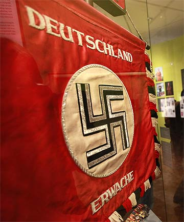 NAZI SYMBOL: The National Socialist Movement's swastika.