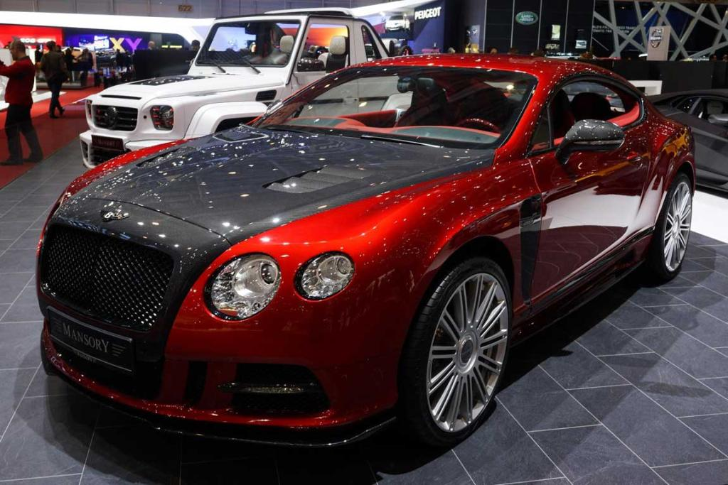 Bentley-based Mansory Sanguis at the Geneva motor show.