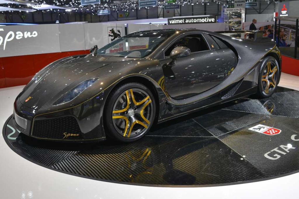 Spano GTA at the Geneva motor show.