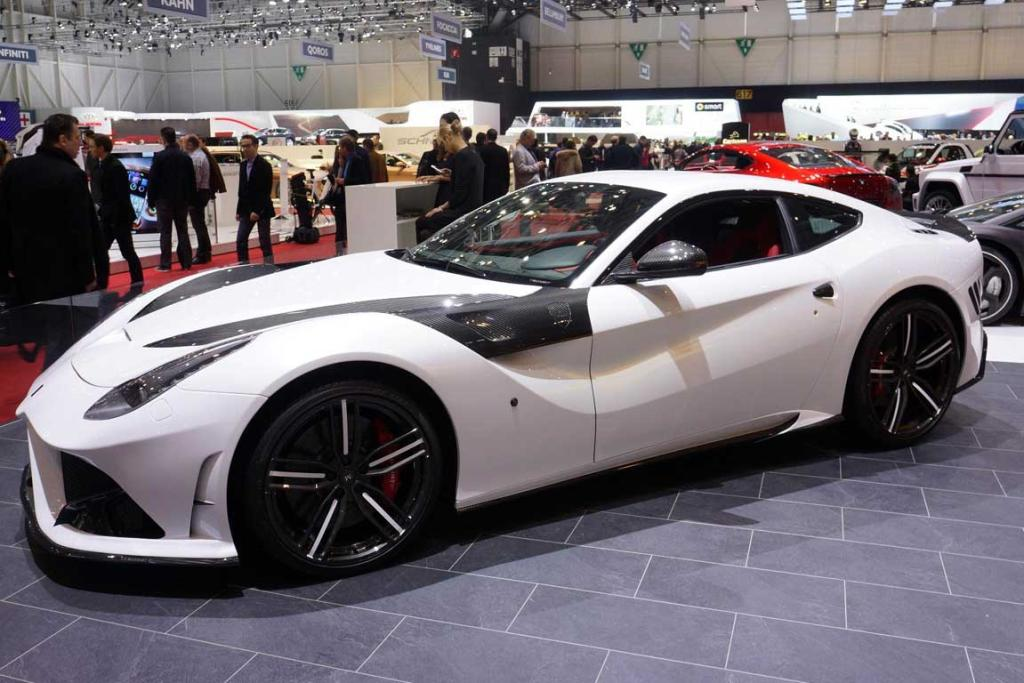 The Mansory Stallone, based on the F12 Berlinetta, at the Geneva motor show.