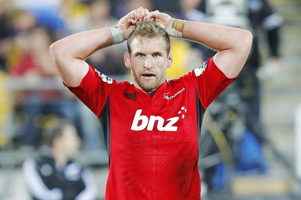 Kieran Read looks on disconsolately after the Crusaders one-point loss to the Hurricanes.