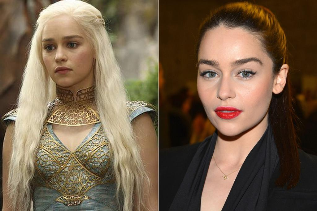 Emilia Clark, who plays dragon-taming Daenerys Targaryen in medieval fantasy show Game Of Thrones.