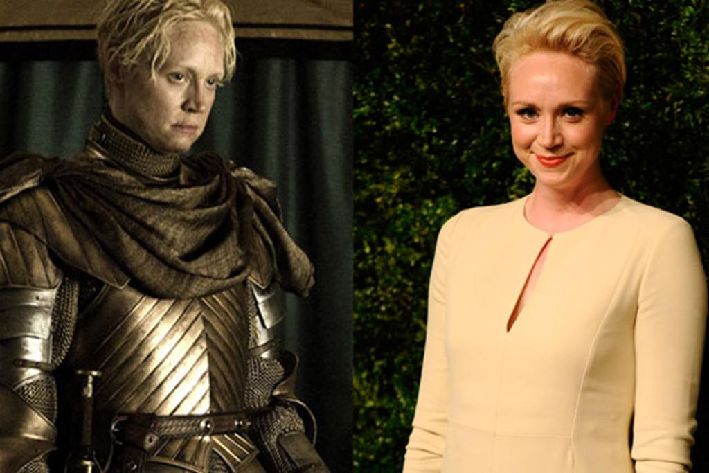 Gwendoline Christie, who plays brave knight Brienne in medieval fantasy show Game Of Thrones.