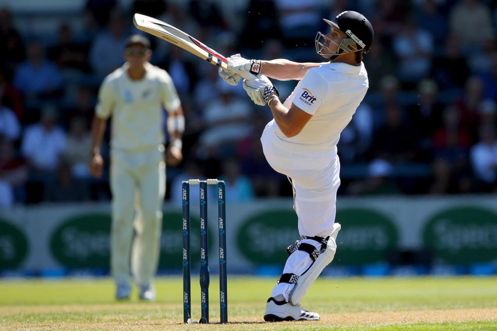 England opener Nick Compton bats his way to a half century on day one.