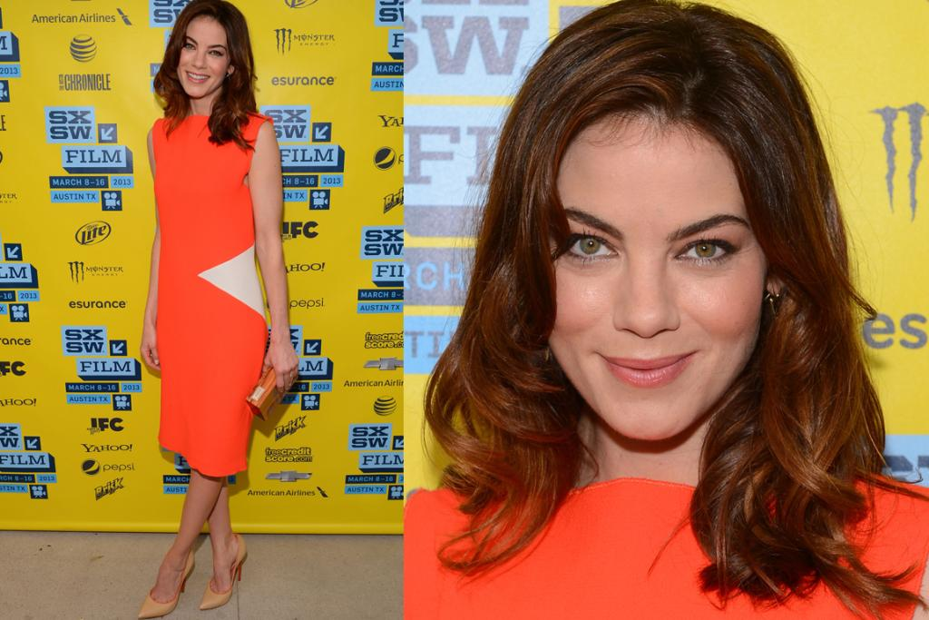 The Good: Michelle Monaghan is striking and yet elegantly simple in this bright orange Roksanda Ilincic crepe dress. We'd just have added a brighter lip, et voila, our fantasy office outfit.