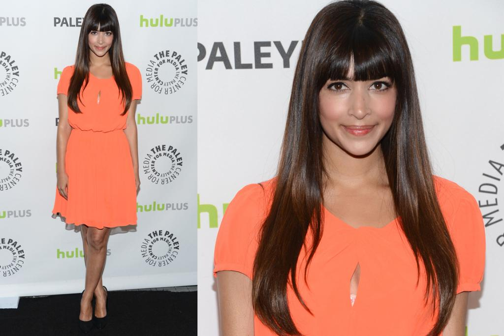The Good: New Girl star Hannah Simone pulls off one of our least favourite things in the world - a keyhole - in this hot peach dress. Wearable and oh-so pretty.