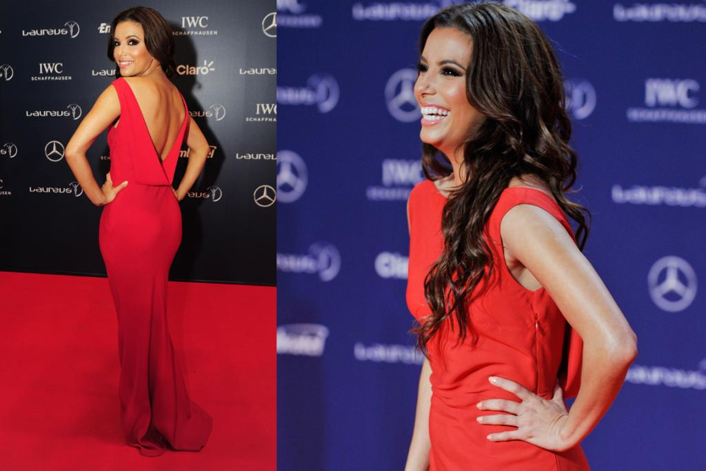 The Best: Eva Longoria strikes the fine balance between sultry and classy in this pure red John Galliano gown. We're also shaking with hair envy: those curls...