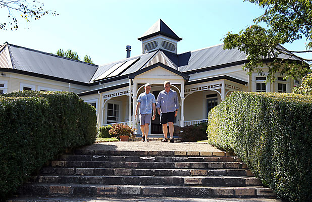 RETREAT: The Monastery, near Hamilton, is providing respite for earthquake-weary Cantabrians. Dr Gerald Johnstone, left, and Major Brendan Wood.