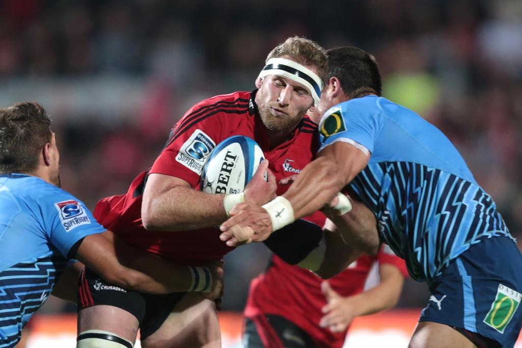 Captain Kieran Read was a standout in the Crusaders win over the Bulls in Christchurch.