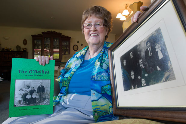 Teresa O'Reilly is proud of her family ancestry and the book about her family, written with Kingsley Field.