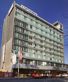 DOWN BUT NOT OUT: Owners of the Copthorne Hotel Christchurch Central think a rebuild would work with city convention plans.
