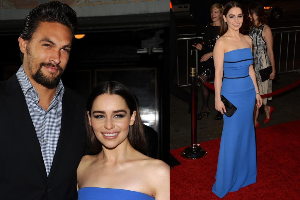 The Best - Emilia Clarke could certainly tame dragons in this Victoria Beckham pure-blue dress. The in-built corset on the dress is very GOT, and her raven locks look perfect in a middle part. It's great to see her and Khal so happy again.