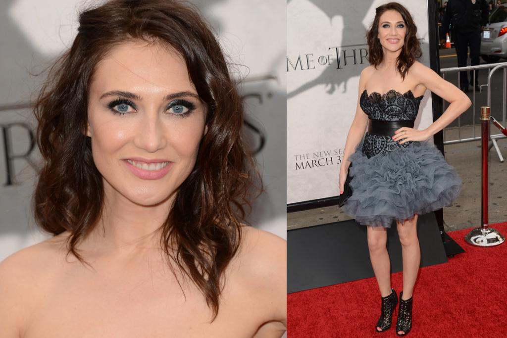 The Worst - Carice van Houten, who plays Melisandre of the crazy-birth-scene in the show, wears a dress that's a touch too short to support its froth-explosion skirt. We're sorry scary lady, please don't squirt fire bombs at us...