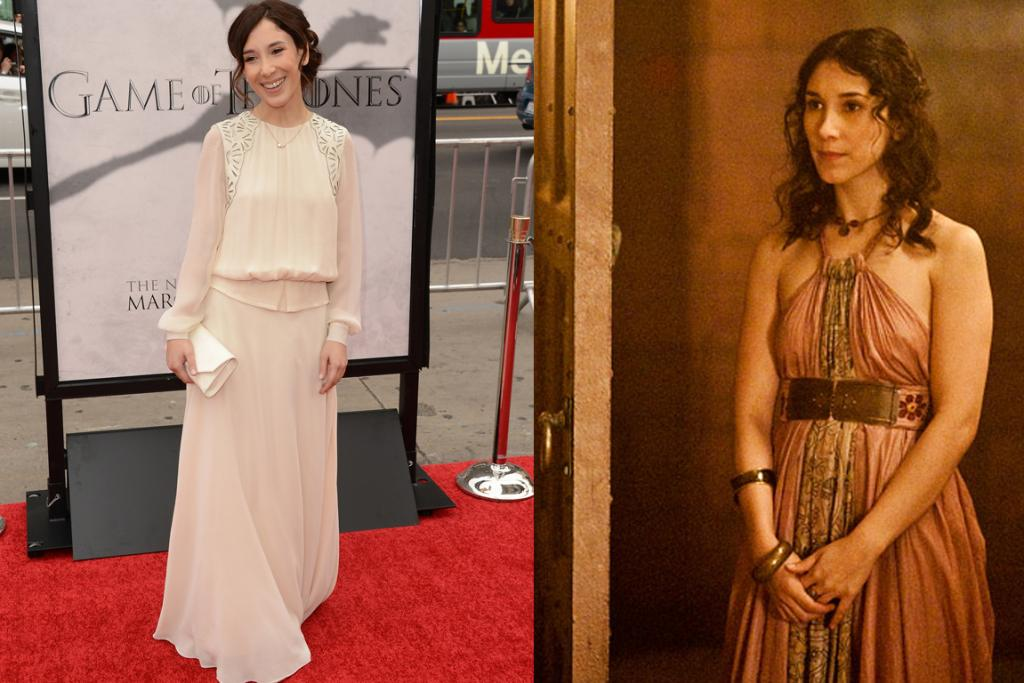 The Third White Maxi - Once porn star, now an acclaimed actress, Sibel Kekilli - aka Tyrion's love Shae - wears an at-once edgy and frumpy cream dress. We actually like this though, it's interesting.