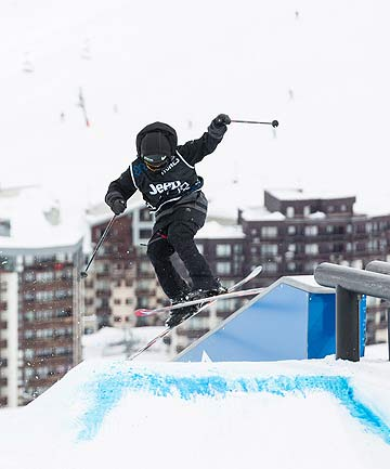 FIRE ON ICE: Jossi Wells in action at this year's Winter X Games in Tignes, France.