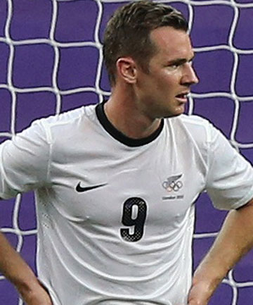 TAKING A REST: Shane Smeltz will not line out for the All Whites against the Solomon Islands.