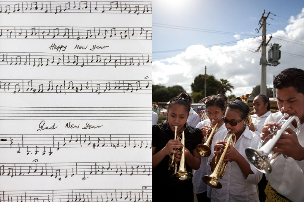 """Otara: """"We go around to all the Tongans in the area and play. It's a bit like people singing carols."""""""