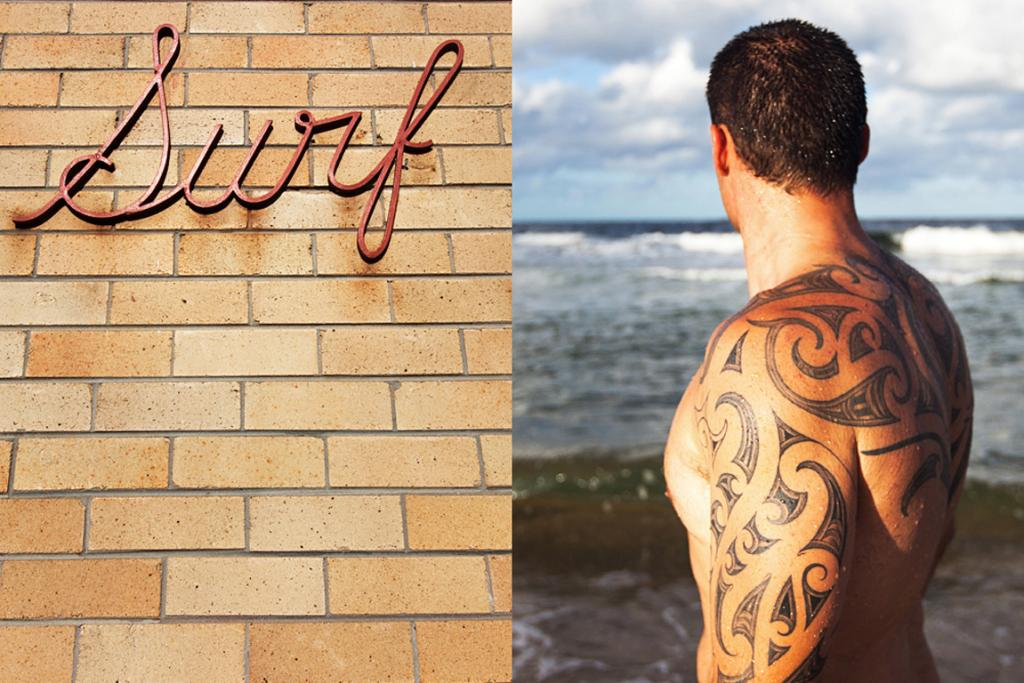 Coogee: Written on his body.