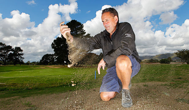 Greenkeeper Brett Burgess can't wait for autumn rains to arrive.