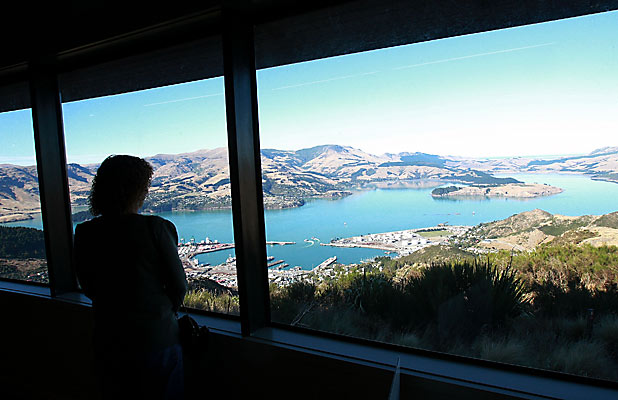 LYTTELTON HARBOUR: Views worth waiting for from the top of Mt Cavendish.