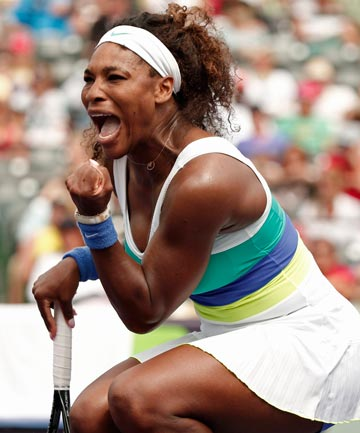 WIN FOR WILLIAMS: Serena Williams overcame a big deficit in her fourth-round match at the Sony Open to beat Dominika Cibulkova.