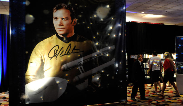 Captain Kirk: William Shatner's character is displayed at Julien's Auctions annual summer sale at the Planet Hollywood Resort & Casino in Las Vegas, Nevada.