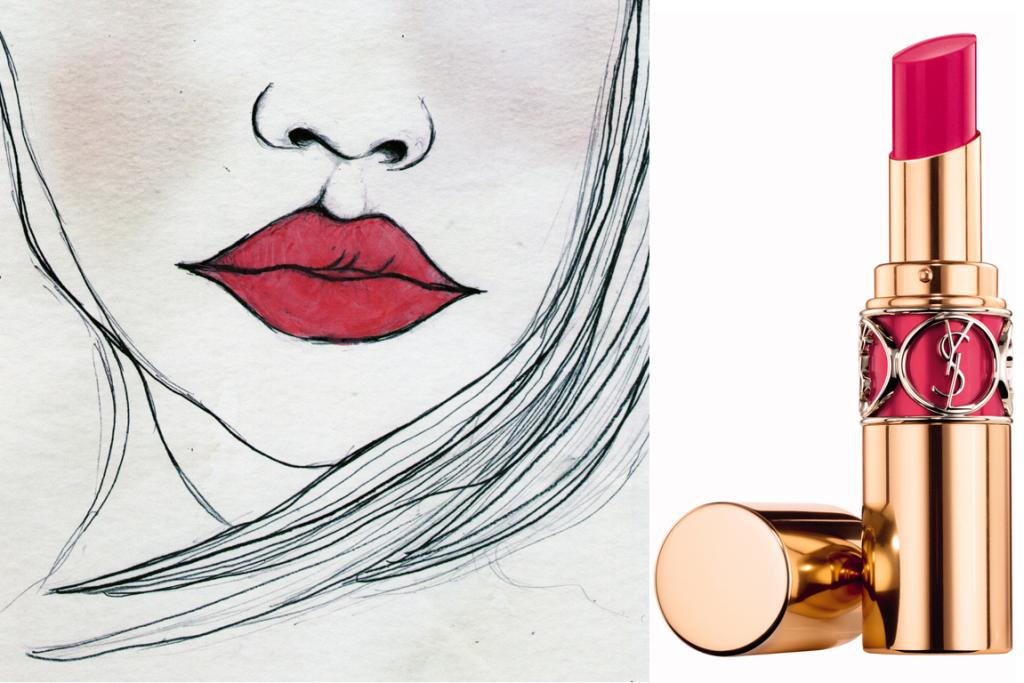 YSL Rouge Volupte Shine No 6 'Pink Devotion' ($65)