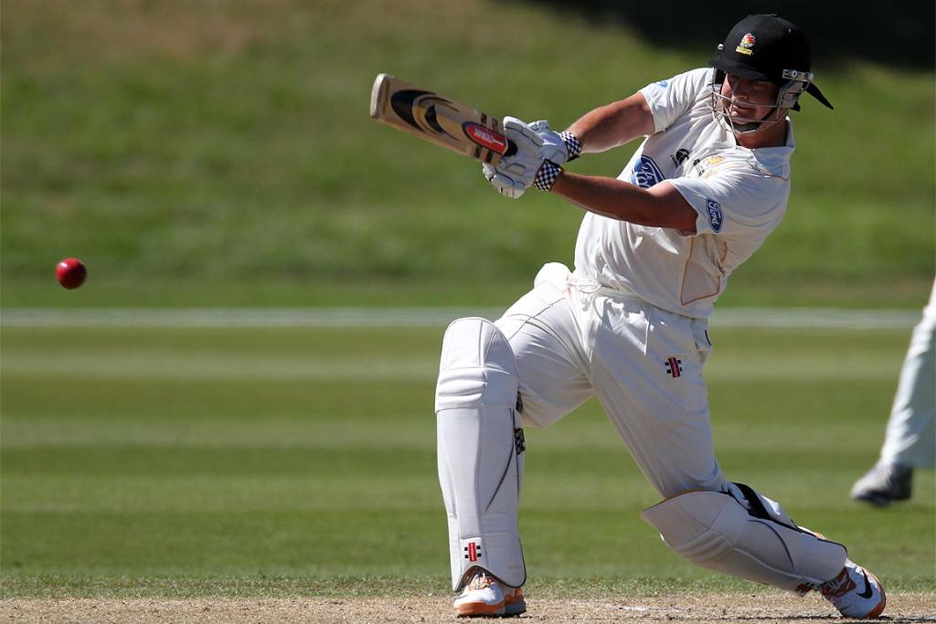 Jesse Ryder batting for Wellington in the Plunket Shield against Canterbury.