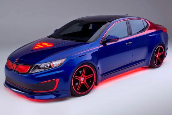 Kia's Superman Optima Hybrid.