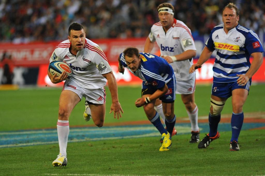Tom Marshall of the Crusaders during the Super Rugby match between DHL Stormers and Crusaders in Cape Town.