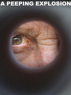 Peeping Tom, spying, peephole